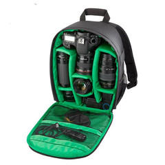 SLR camera bag light camera bag outside the door double shoulder photography bag colour green