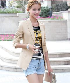 1PCS Women Ladies Skinny Casual Jacket Coat Little Suit With a Buckle black s