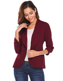 1PCS New Fashion Women Ladies Lapels Seven-point sleeves Jacket Coat Little Suit black s