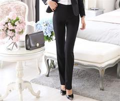 Women Ladies Commuter Suit PantsTrousers black s