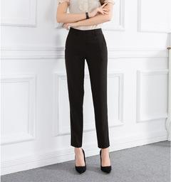 Women Ladies Commuter Suit PantsTrousers Pencil Pants black s