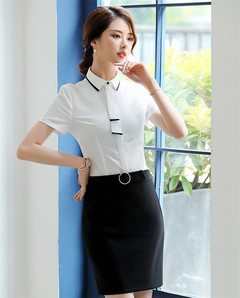 Women Ladies Business Suit Shirt And Skirt one white shirt m