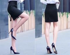 Women Ladies One-step Commuter Skirt  Business Skirt black s