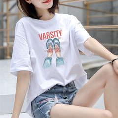 Women Ladies Short Sleeved T-shirt 01 s