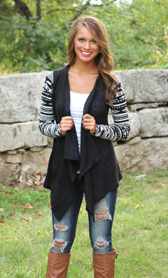Women Cardigans Solid High Low Long Sleeve Boho Open Front Blouses Cardigans black s