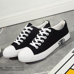 Shoes for men Canvas Plus Size Flag Flat Sneakers Shoes men Footwear black 40