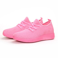 Shoes for women Breathable soft sole lightweight shoes large size sports shoes pink 39