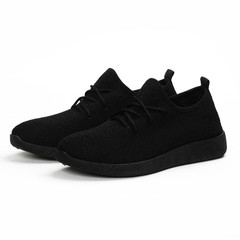 Shoes for women Breathable soft sole lightweight shoes large size sports shoes black 35
