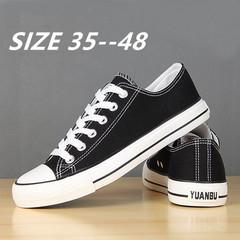 Shoes for men plus size men's shoes 45 breathable 46 fashion casual  extra-large canvas sports shoes black 38