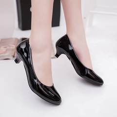 Shoes for women New Elegant Ladies Shallow Mouth Low Heel Sandals Shoes Flat Bottom Fashionable black 40