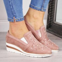 New shoes women shoes ladies sneaker plus size 35-43 diamond athletic casual ladies Sports shoes pink 41