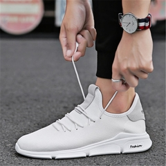 New shoes men fashion sports shoes running shoes breathable mesh sneakers white 39