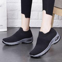 Shoes shoes women shoes ladies shoes sneakers slip on breathable Hot sale sport shoes Women Athletic black 41