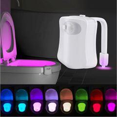 8 Colors Human Motion Sensor Toilet Light Bathroom Night Light Home Decoration 8 colors 8cm 1