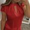 Women wear casual blush as a sexy shirt red xxxxl