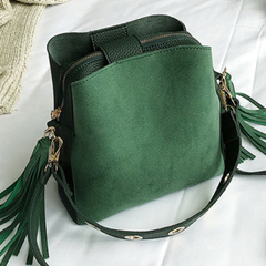 New all-in-one cross body bag bucket bag sanded leather fashion small bag