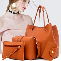 Popular women's bag can be inclined across a single shoulder multi - purpose four - piece set