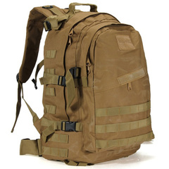 Army fan 3D backpack camping outdoor mountaineering backpack man khaki All code