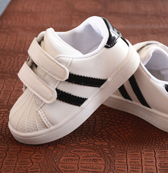 Children's board shoe new style student children's shoes shell head sports small white shoes white 21