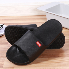 Summer blown slippers couple home bathroom slipper slipper men and women plastic slippers black 39