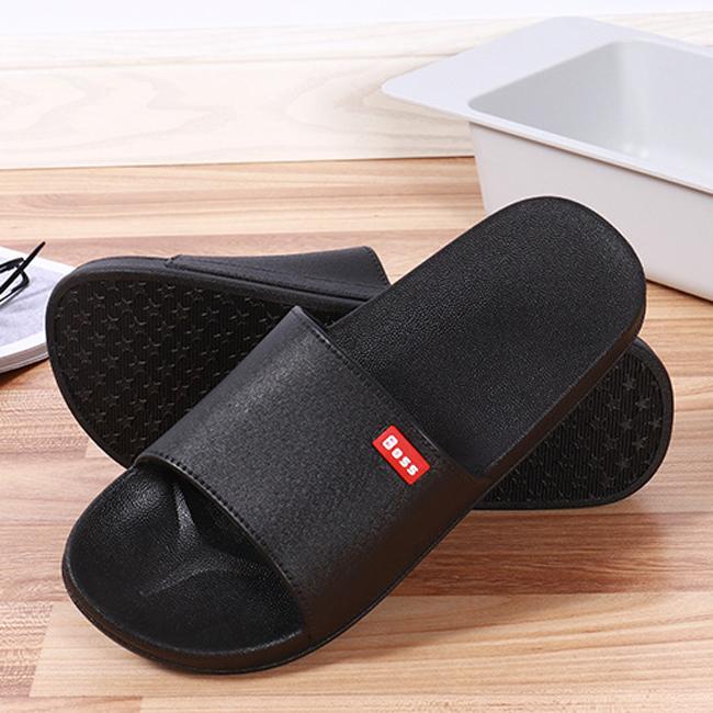 Summer blown slippers couple home bathroom slipper slipper men and women plastic slippers black 38