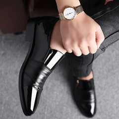 2019 new large-size business dress shoes for men black 38