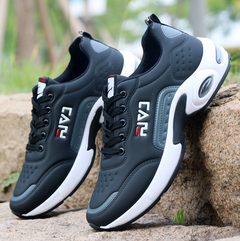 Men's sports casual shoes non-slip shoes men's board shoes go well with students' running shoes black 39