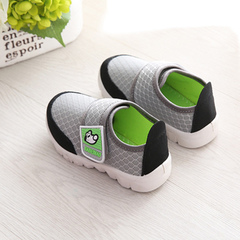 2019 new children's sports shoes for boys running mesh shoes for girls' leisure shoes gray 19 yards - 12.7 cm in length