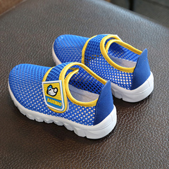 New children's breathable mesh shoes children's sports shoes baby single mesh casual shoes sapphire 19 yards -12.6 cm