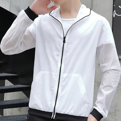 Summer trend youth casual plus-size men's jackets white M