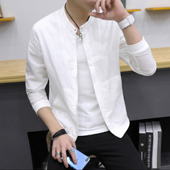 Men's outerwear: ultra-thin, breathable and uv protective clothing in summer white M