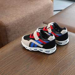 Baby light up toddler shoes children's mesh sneakers boys' sneakers girls' breathable shoes black 21