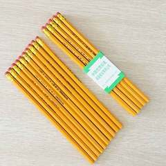 Creative stationery with rubber HB pencil log pupil pencil children prize black HB