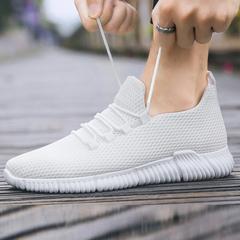Summer net cloth shoes net upper sports shoes men's new men's breathable men's net shoes white 39