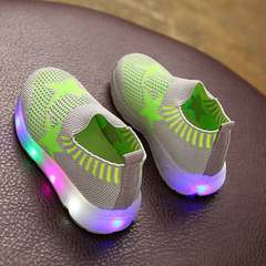 LED sports light shoes for boys and girls weave a pedal celadon 22