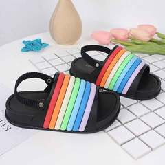 New summer fashion comfort for boys and girls with open toe and soft sole slippers for children black Within 24 yards, 14cm
