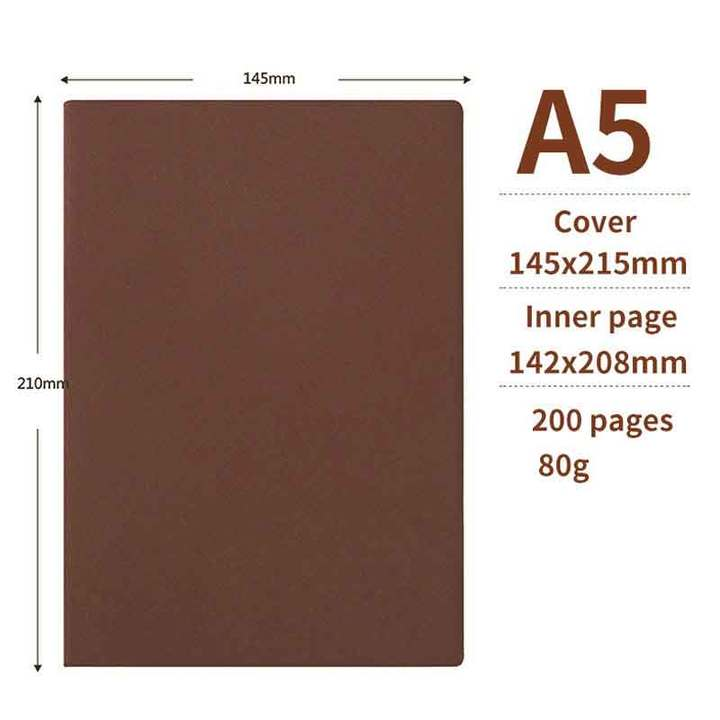 Sheepskin A5 notebook imitation leather retro business office notepad student diary A5 red A5