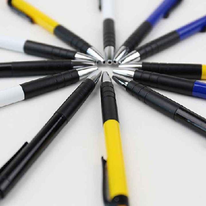 Ball pen 6505 0.7mm office pen spring ball pen students with blue press ball pen blue The bullet type 0.7