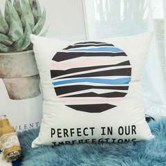Geometric pink simple fashion pillow modern letter cushion small fresh pillow cover sofa cushion Geometric 00 45*45cm