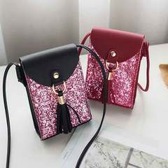 New casual mini satchel with cross-shoulder shoulder bag for mobile phone red 1 a