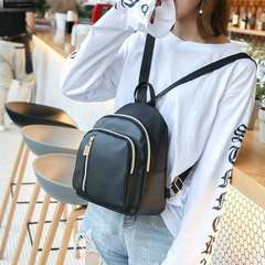 New women's backpacks Korean version of fashion joker simple college style small backpack black 1 a