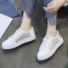 New shallow - mouthed female student mesh breathable versatile lace-up flats white 36