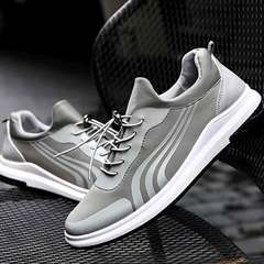 Men's casual shoes breathable canvas shoes fashionable low top sneakers for men gray 39