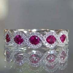 Green zircon diamond diamond engagement ring red No. 5