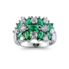 Zircon diamond ring jewelry jewelry gift creative accessories emerald No. 6