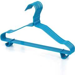 Hangers household children's clothes hanging plastic hangers plus thick clothes rack blue 30 outfit