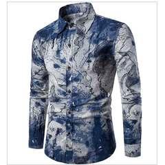Chinese linen slim long sleeve shirt, suitable for large cotton linen shirt men CS3 M