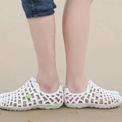 Summer lovers cave shoes hollow breathable men's sandals beach women's shoes large size white 36