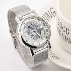 Non - mechanical quartz watch fashion gift watch hollow ladies watch Silver steel belt 1 a