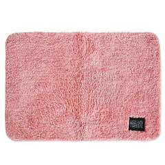 Bathroom floor mat door pad thickened water absorption bathroom non-slip mat bedroom door pink 40cm×60cm